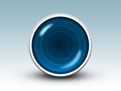 Blue Orb blue orb gloss glass reflection icon shading daniele delgrosso dandelgrosso