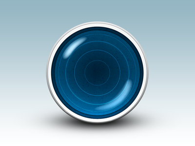 Blue Orb blue orb gloss glass reflection icon shading daniele delgrosso dandelgrosso