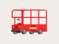 London Bus geometic minimal vector art london bus vehicle vector