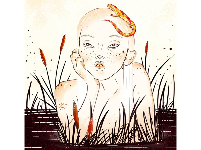 Marsh nymph nymph girl illustration