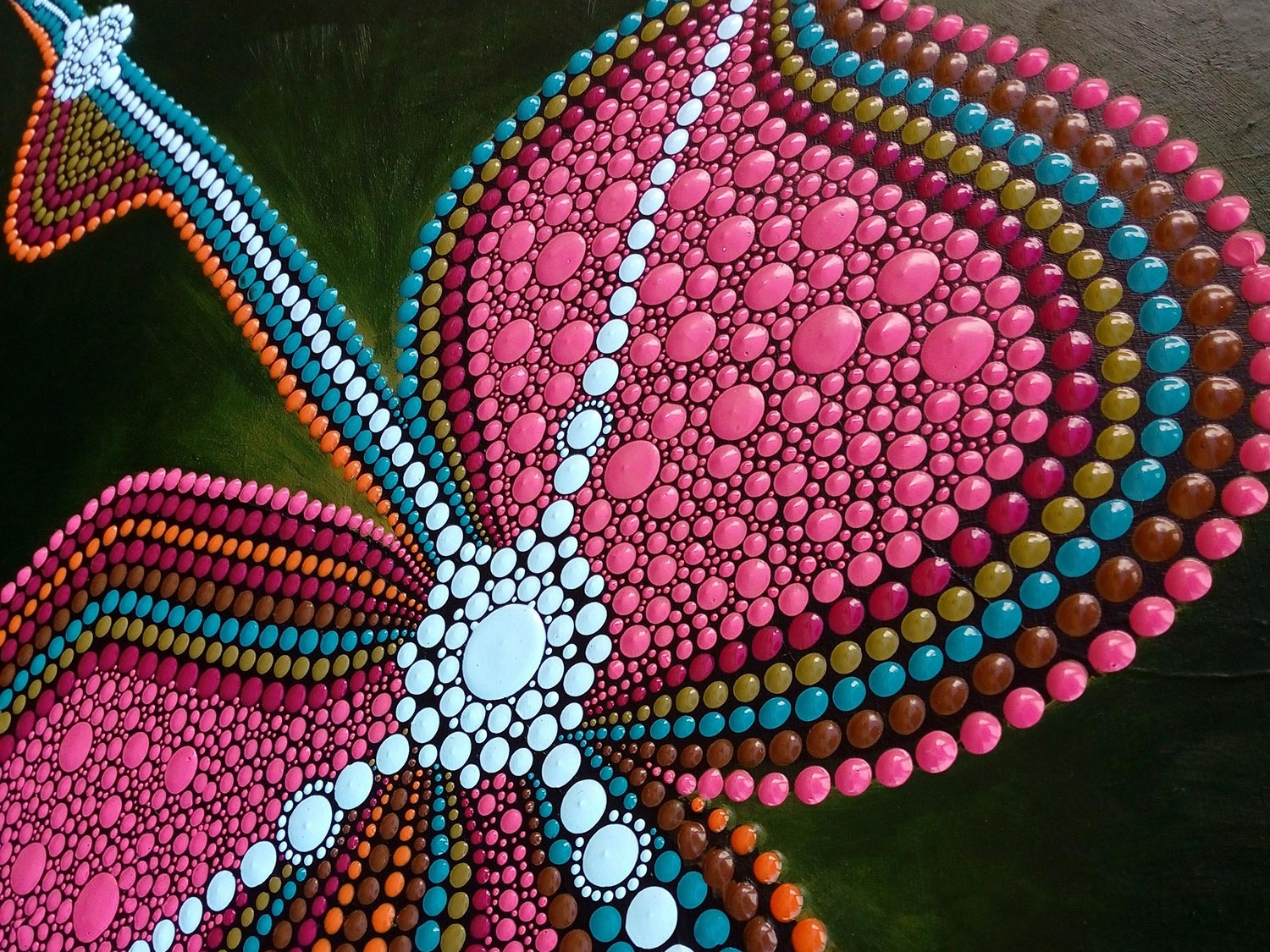 Abstract Dot Painting Inner Freedom Tessa Smits Detail Shot