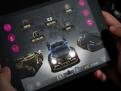 Motor Planet racing game mobile ui