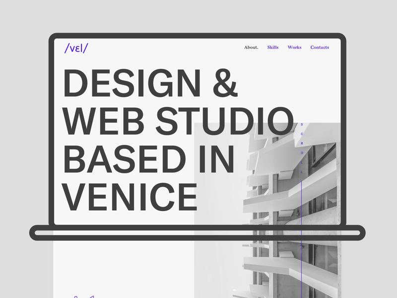 Vel studio new website homepage presentation vector typography graphic design website website concept webdesign ui ux