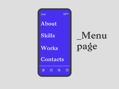 Mobile menu smartphone mockup mobile typography website website concept webdesign ui ux