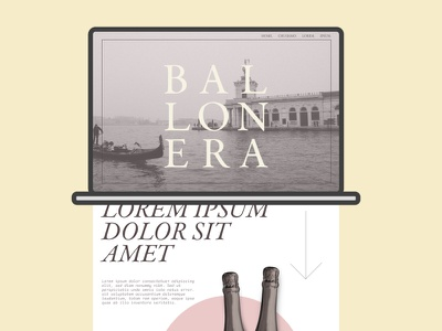 Ballonera prosecco ecommerce typography branding website concept website graphic design webdesign ux