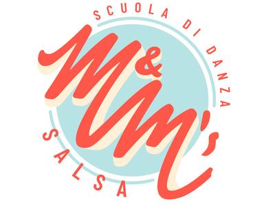 Logo and logo animation for M&M Salsa dance school typography branding illustration logo animation logo design graphic design logo