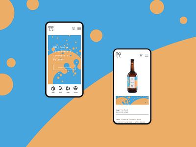 Ecommerce mobile layout beer branding ux illustration graphic design webdesign ecommerce