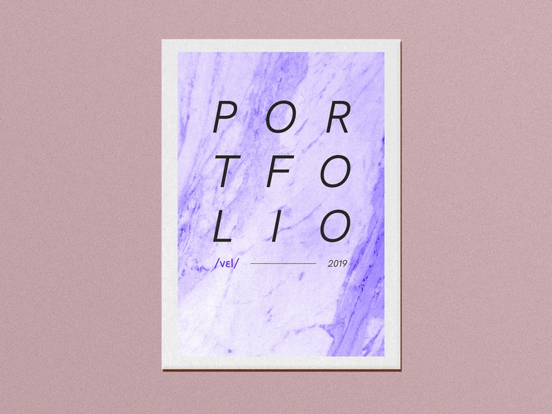 Vel portfolio book cover paper portfolio book editorial typography illustration graphicdesign