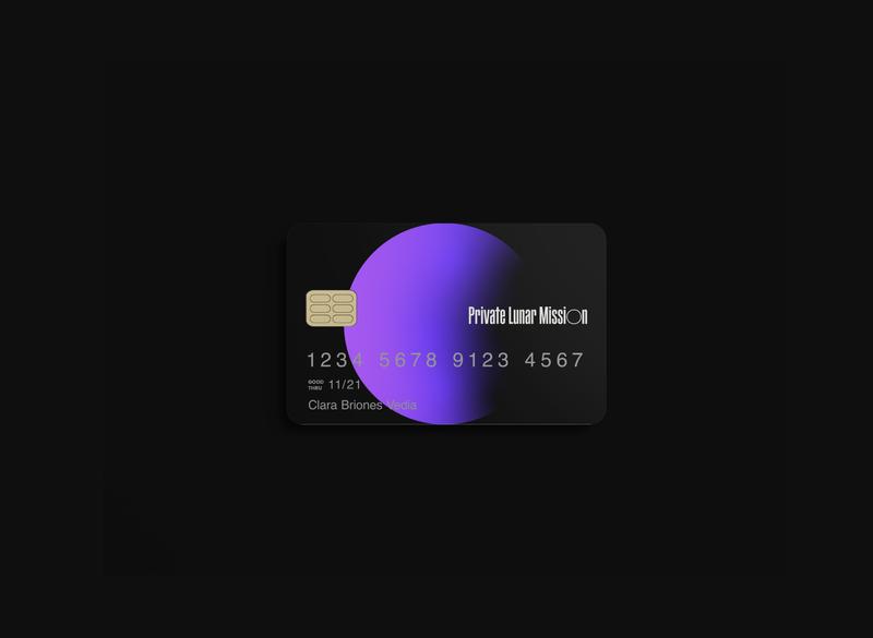 Private Lunar Mission - School project logo vector credit card branding concept branding