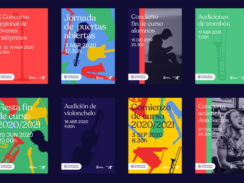 System poster - Conservatory of Music Torrelavega conservatory music school music branding poster design poster