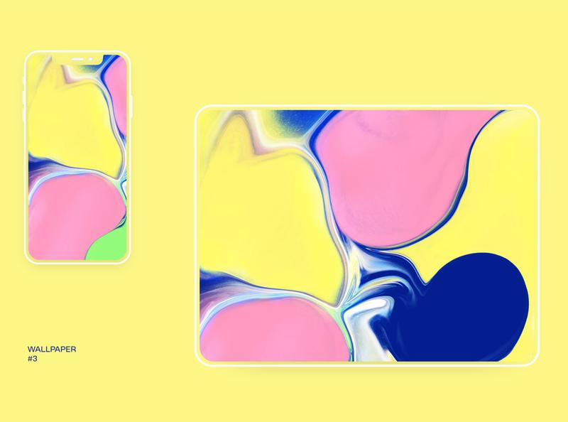 Set of free wallpapers (wallpaper #3) illustration procreate freebie free download wallpaper