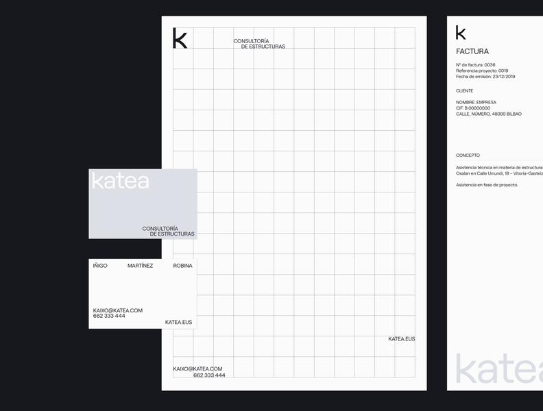 Katea - visual identity visual identity arquitecture business card logo branding