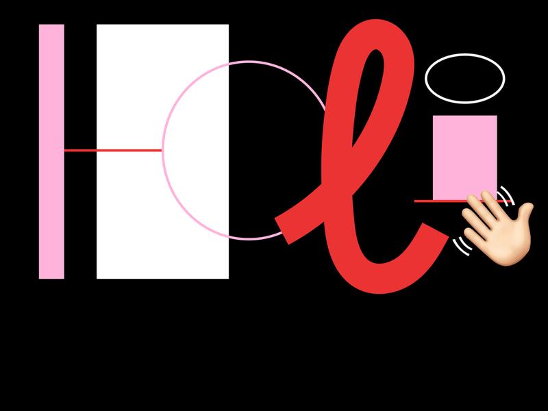 Holi! lettering illustration illustrator vector self promotion