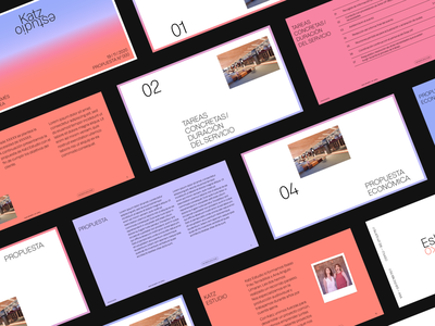 Proposal template for Katz Estudio keynote visual identity branding template