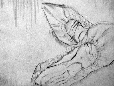 Shoes - straight line drawing