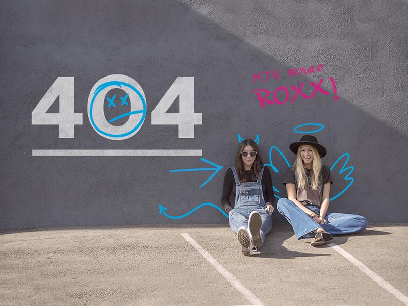 MTV Mobile 404 Page street art girls grafitti website web design 404 page 404 webpage