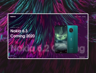 Nokia phone Website design concept typography website design landing page design colorful landing page website web minimal branding ux ui design
