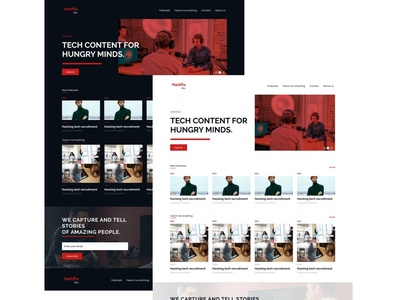 Hackflix: Tech content for hungry minds logo typography website web identity minimal ux branding ui design