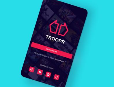 Esports app design illustrator app identity minimal ux branding esports gaming ui design