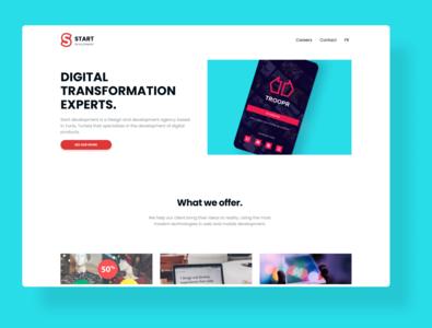 Agency website design web website minimal branding ui design