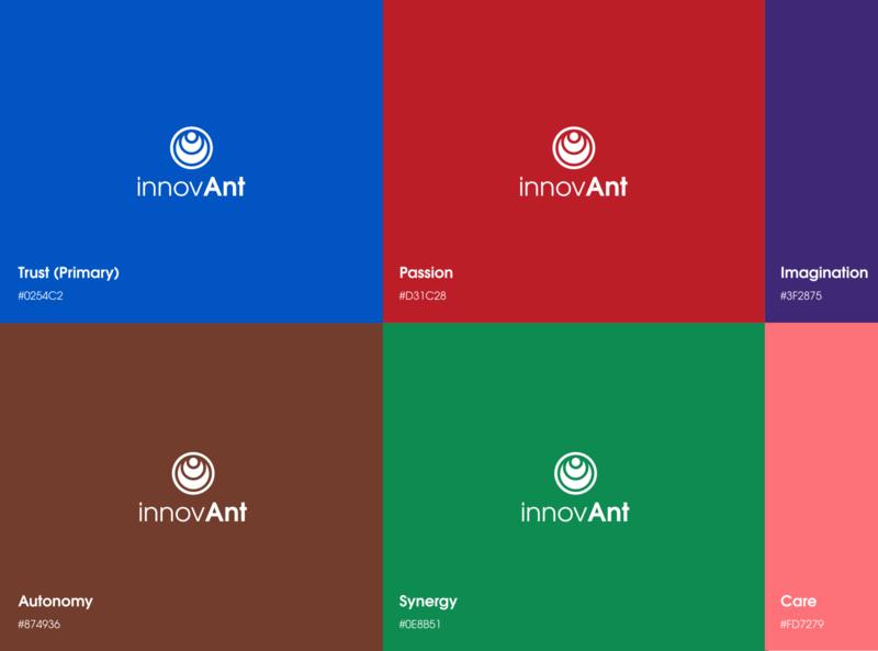 Innovant  brand design minimal illustrator typography logo identity branding design