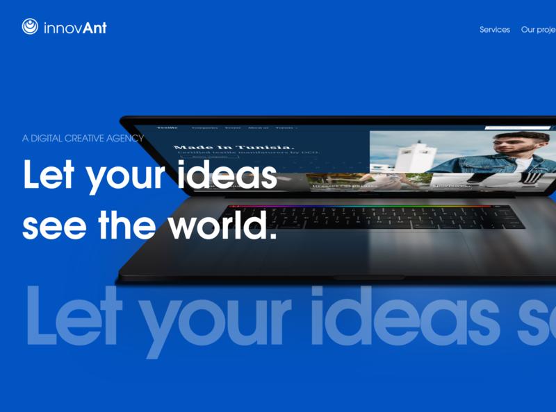 InnovAnt homepage exploration website minimal web typography logo ux identity ui branding design