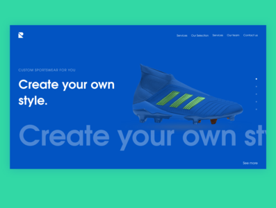 Shoe store Website design website web typography minimal branding ui design