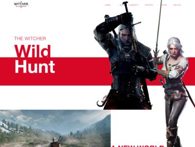 The Witcher III Website design thewitcher games homepage website gaming web ui design