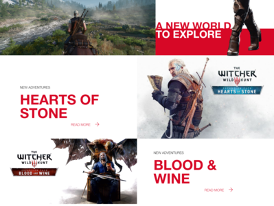 The witcher homepage design 2