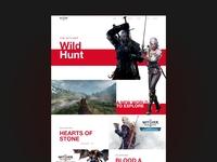 The witcher wild hunt website design