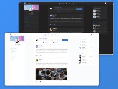 Linkedin redesign linkedin redesign flat app website ux web minimal ui design