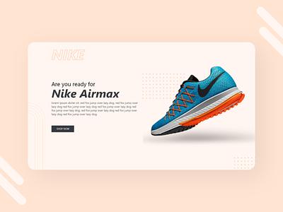 Nike Landing Page uxdesign uidesign webdesign landing design landingpage