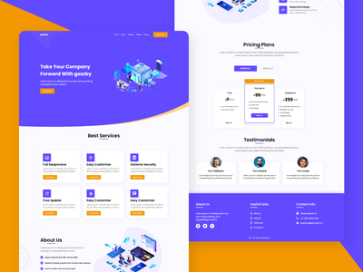 Gozzby Landing Page Design business landing page design minimalist landing page creative landing pages landing page responsive landing page design agency figma landing page website landing page design landing page ui landing page design