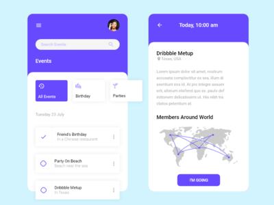 Events App UI