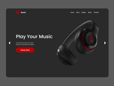 Beats Headphone Landing Page