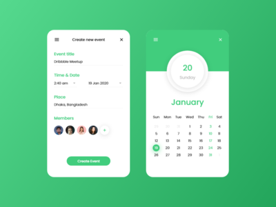 Daily UI - Events App Design