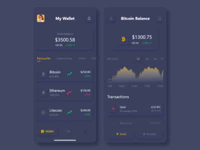 Cryptocurrency Wallet App Rebound Shot