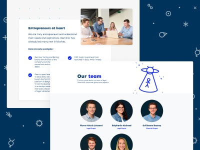 Dups - Website alien space figma branding team entrepreneur landingpage about page about us about