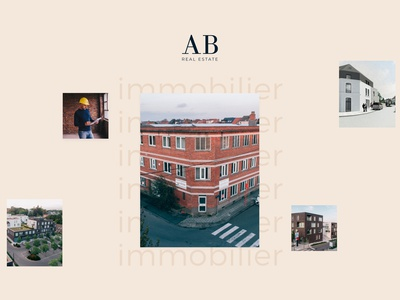 AB Real Estate Website logo colors immobilier design moodboard website figma ux ui buildings build realestate