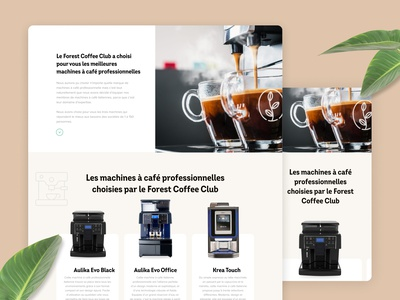 Forest Coffee club - Website ui interface work eshop products product branding logo dailyui coffee machine sustainability sustainable coffee