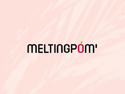 Melting Pom Logo colors typography apple design vector logo branding