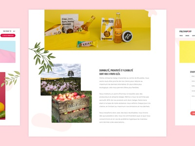 About Melting Pom page layout dailyui figma flexibility proximity sustainability values landingpage contact local product sustainable learn more about us about