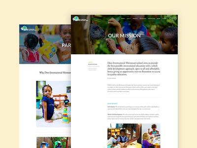 Montessori school website design school ui web design website