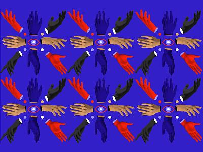 Surreal Pattern color collage hands digital explorations pattern surrealism