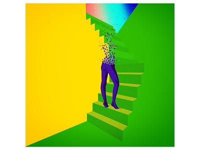 Digital illustration illustration gradients humans digital color surrealism