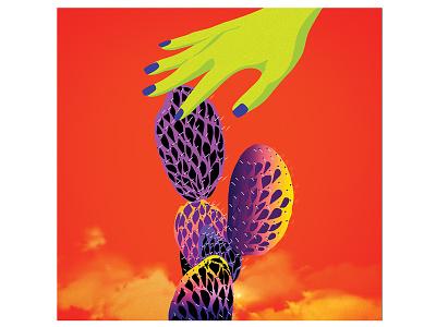 Digital illustration texture clouds cactus gradients surrealism color humans illustration digital