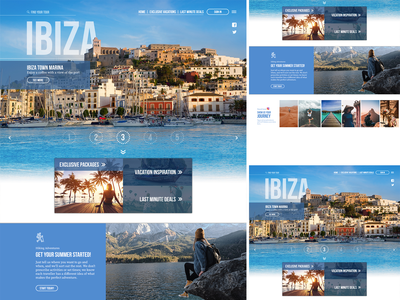 Travel Site Web Mockup destination web travel design