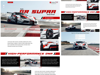Toyota Supra Splash Page supra auto toyota web design car splash page design