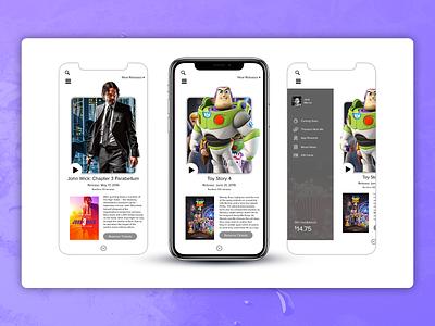 MovieTix App mobile design ux ui movies app