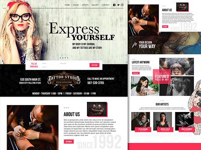 Flux Capacitor Tattoo Studio Landing Page tattoo web design website landing page ux